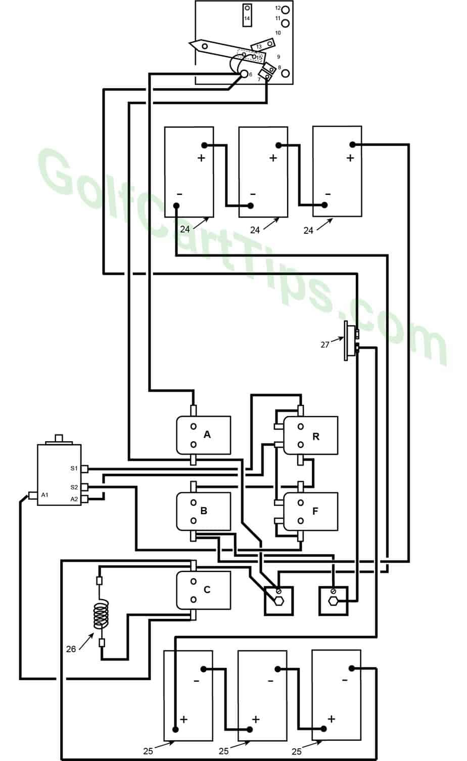 Ezgo Golf Cart Wiring Diagram Lights from golfcarttips.com